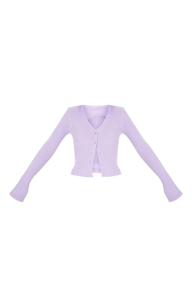 Lilac Button Front Cardigan 3