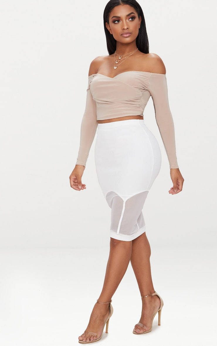 Shape Nude Slinky Bardot Crop Top 4