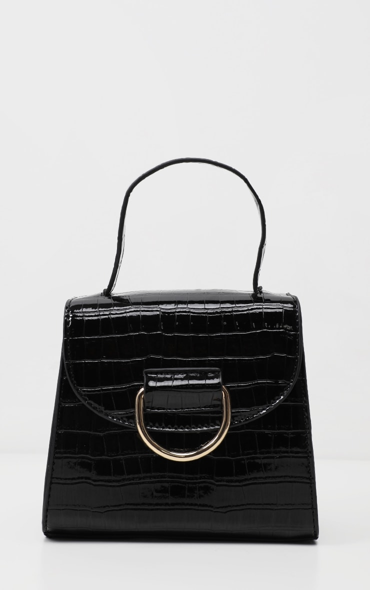 Black Ring Detail Mini Bag 2