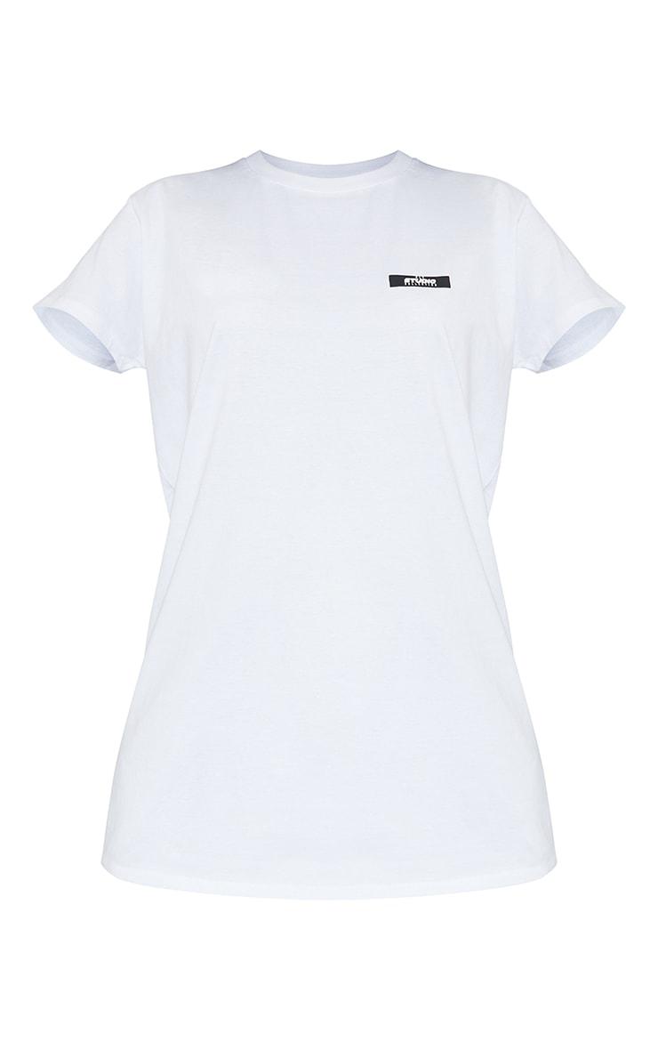 PRETTYLITTLETHING Tall White Oversized T- Shirt 5