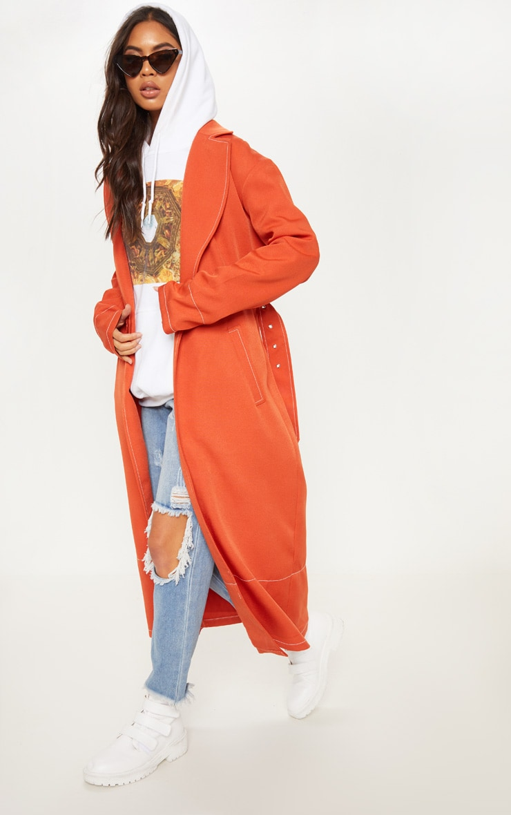 Rust Belted Trench 1