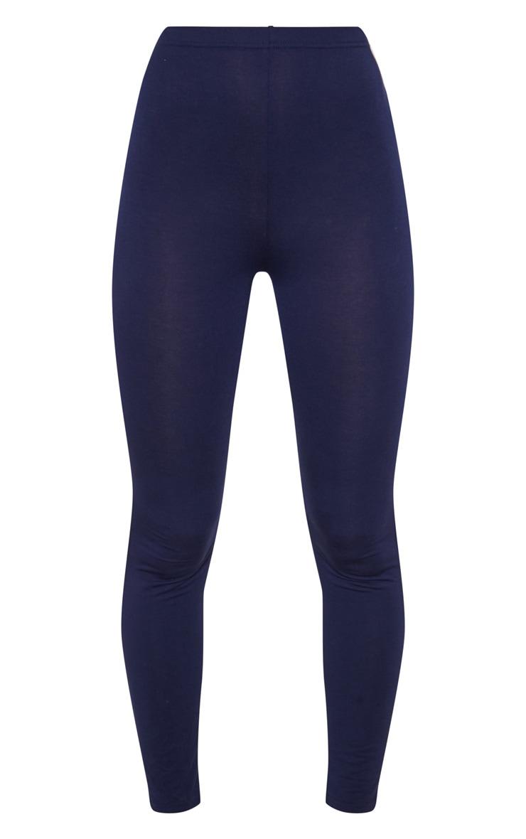 Lot de 2 leggings en jersey gris et bleu marine 3