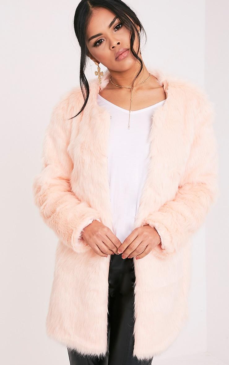 Florencia manteau en fausse fourrure rose bébé 1