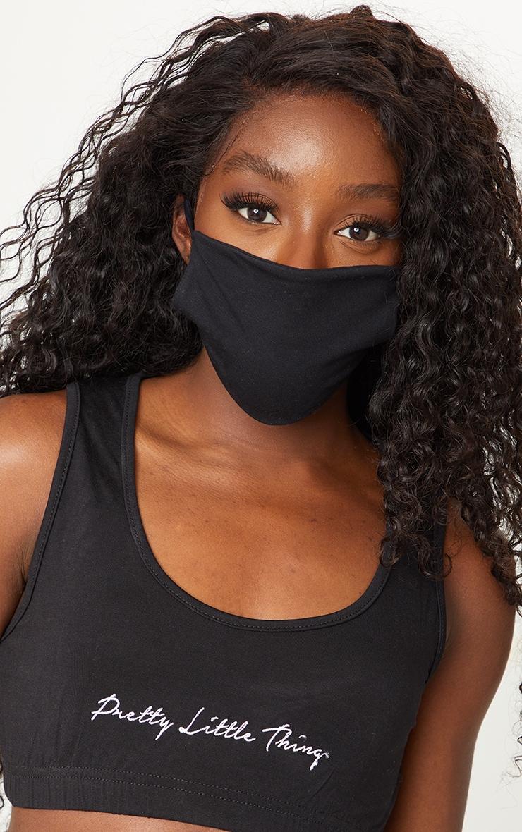 Black Basic Face Mask 1