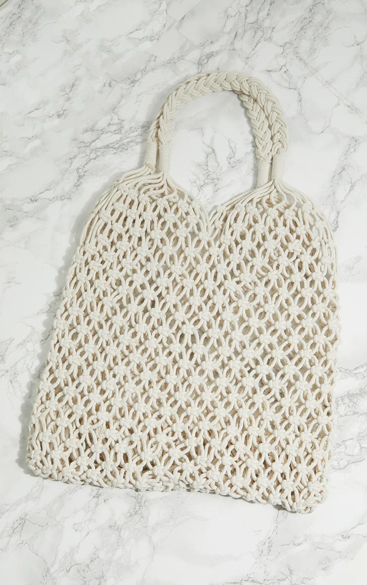 Cream String Shopper Bag 3