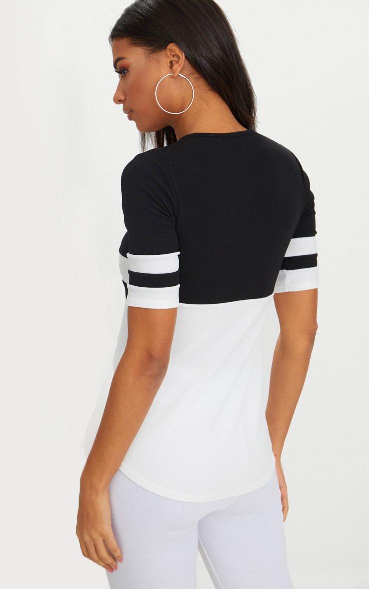 Monochrome Sports Stripe T Shirt  2