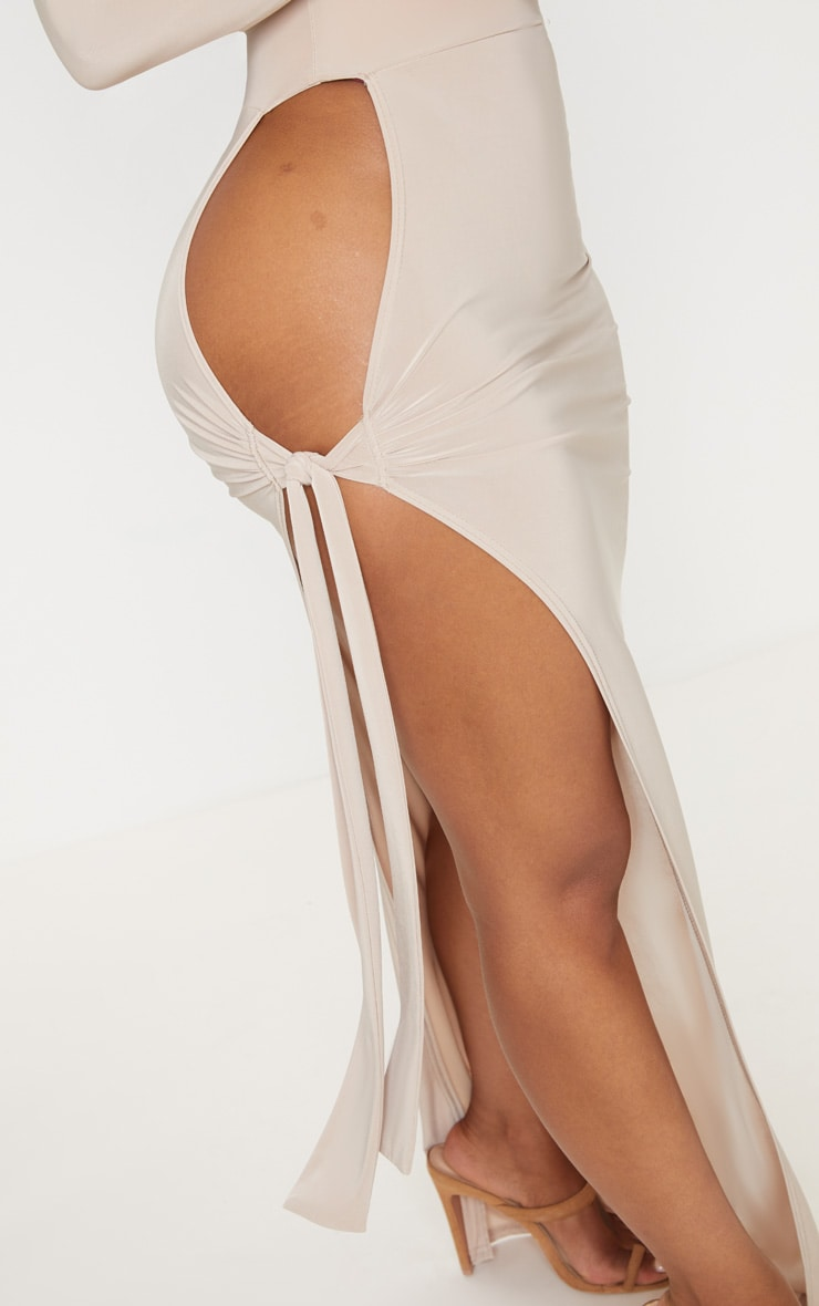 Shape Stone Slinky Tie Detail Maxi Skirt 5