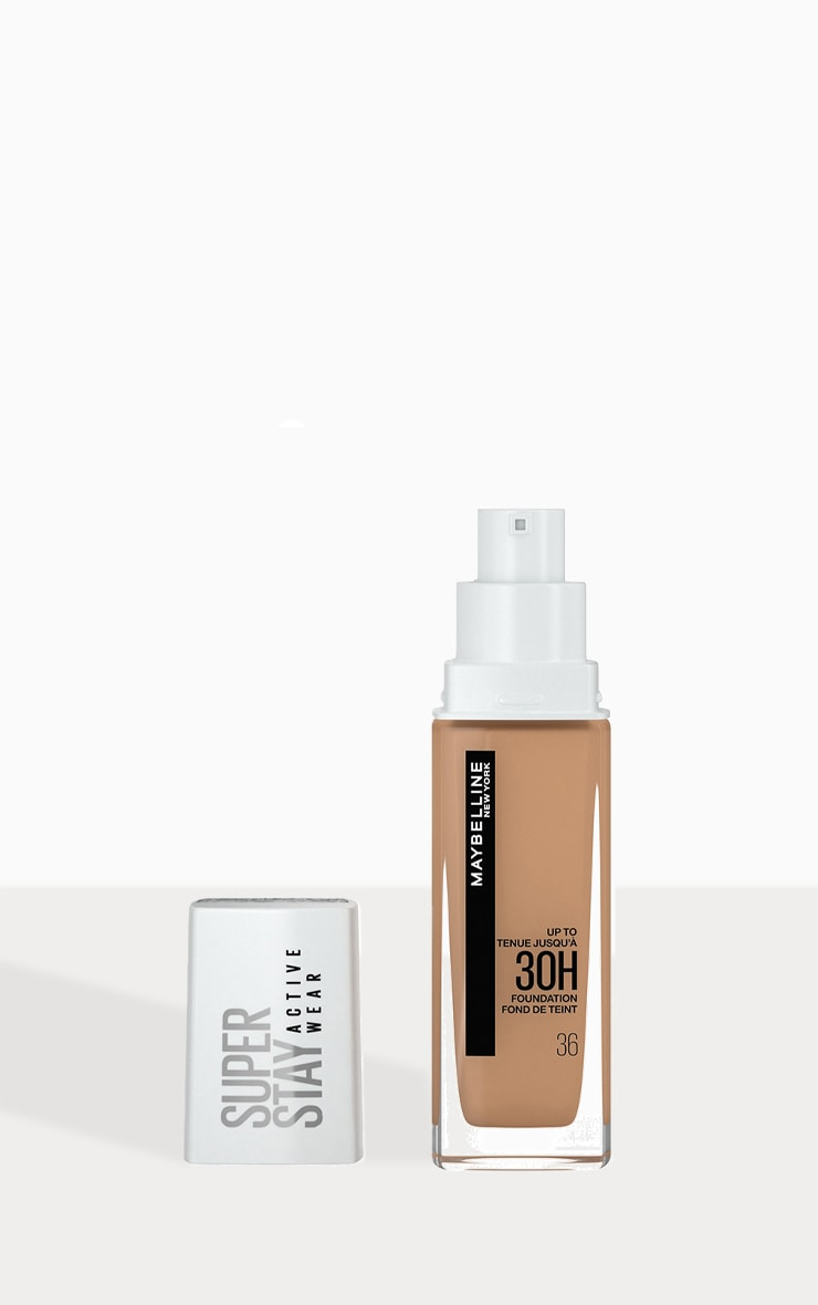 Maybelline Superstay Active Wear Full Coverage 30 Hour Long-lasting Liquid Foundation 36 Warm Sun 1