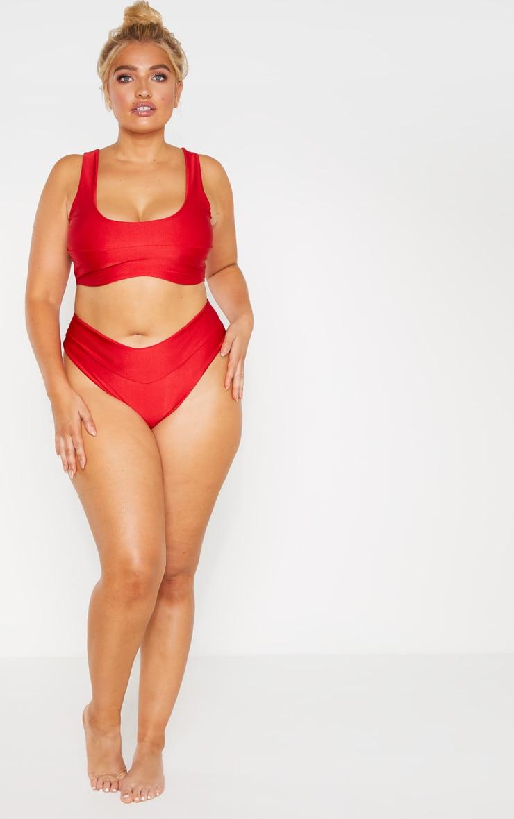 PLT Plus - Bas de bikini rouge 3