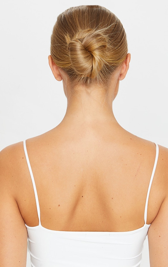 LullaBellz Premium Messy Bun Hair Up Scrunchie Warm California Blonde 3