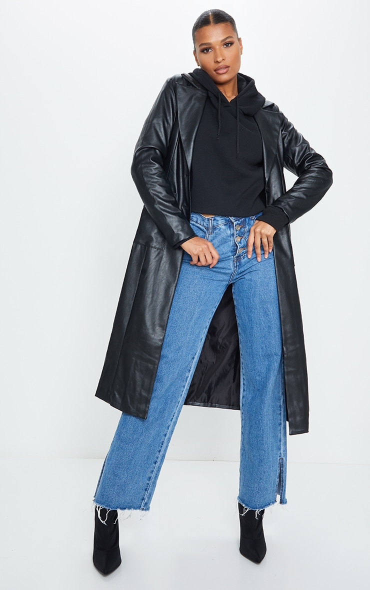 Black PU Trench 3