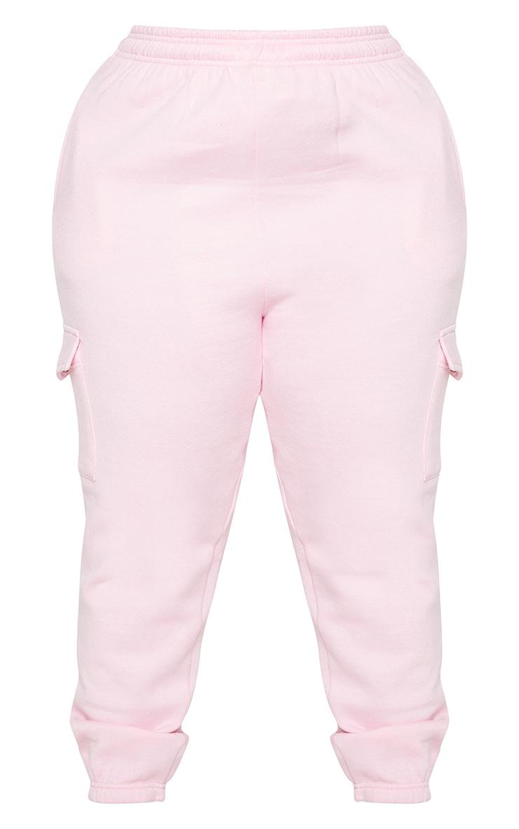 Plus Baby Pink Pocket Detail Joggers 5