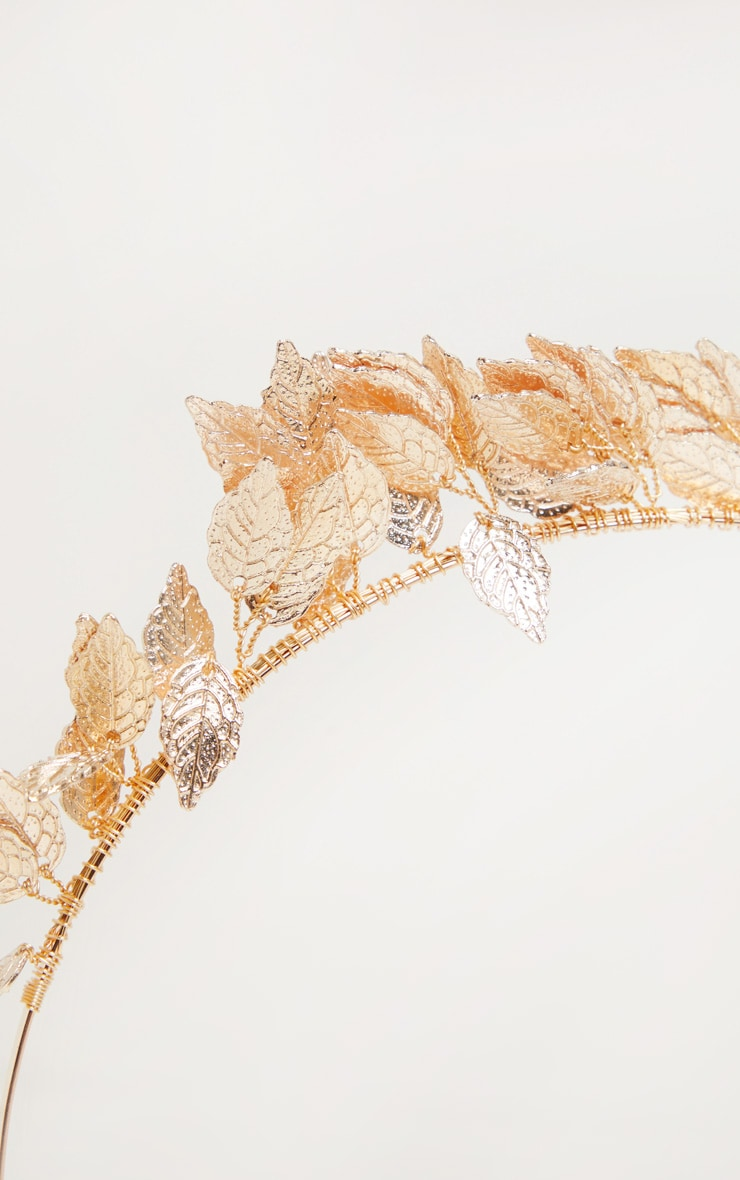 Gold Leaf Headband 3