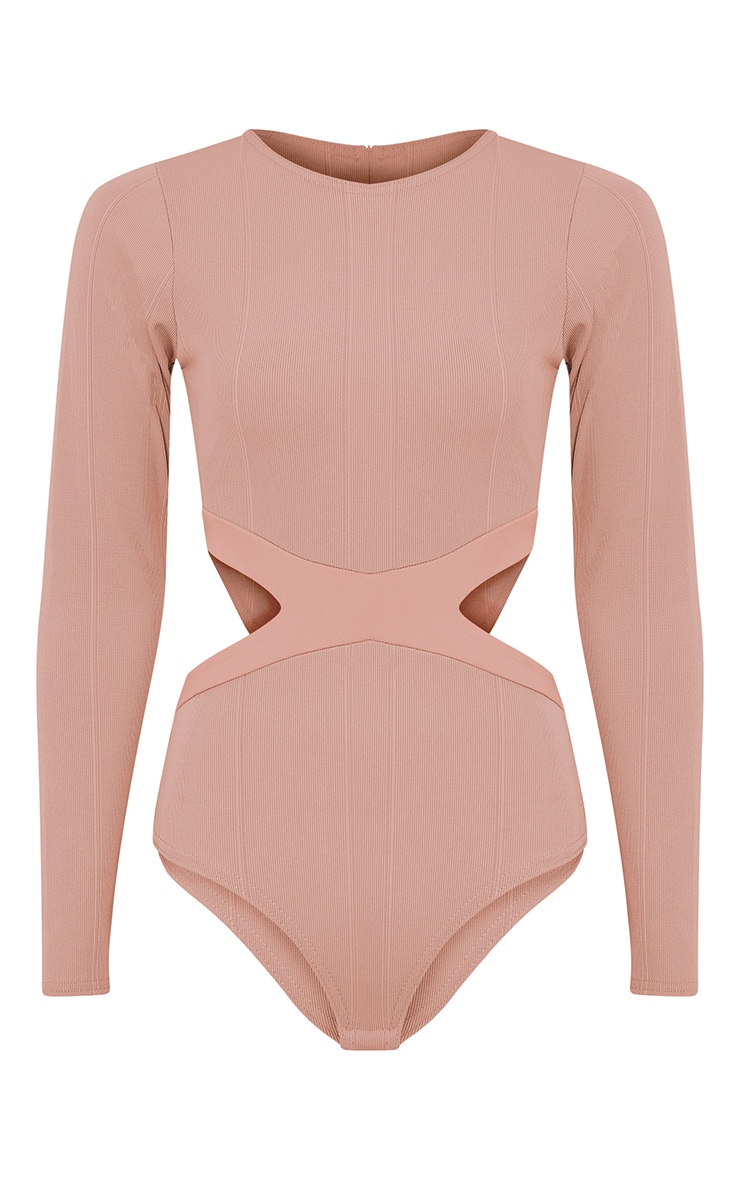 Alessia Nude Bandage Cut Out Bodysuit 3