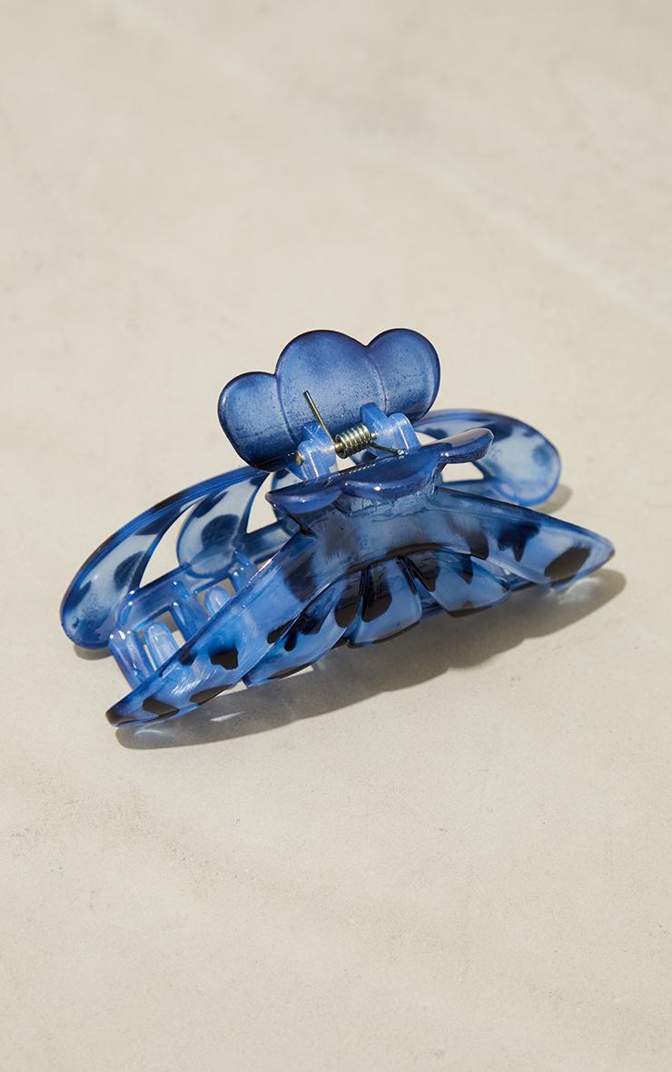 Blue Leopard Hair Clip 2