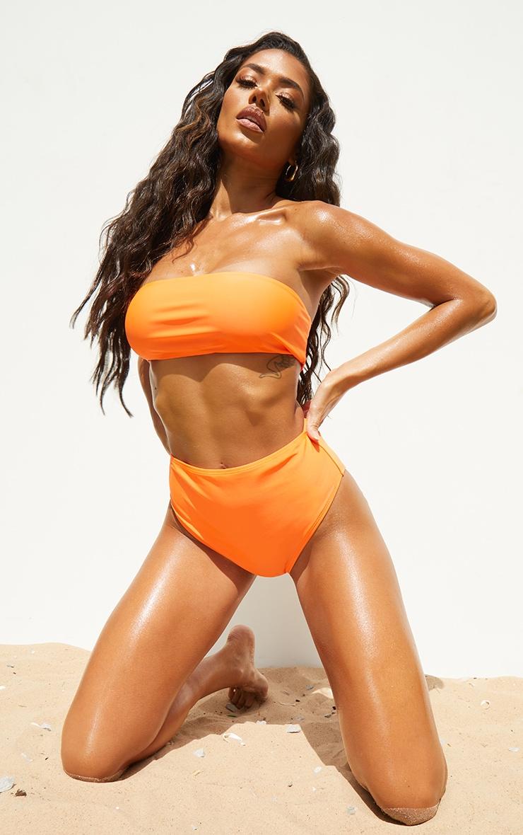 Recycled Orange Mix & Match High Waist Bikini Bottoms 3
