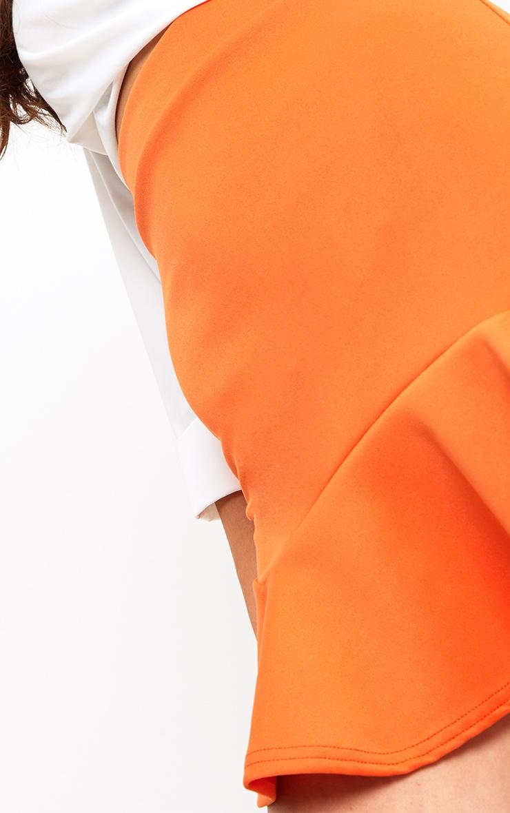 Bright Orange Flippy Hem Mini Skirt 6