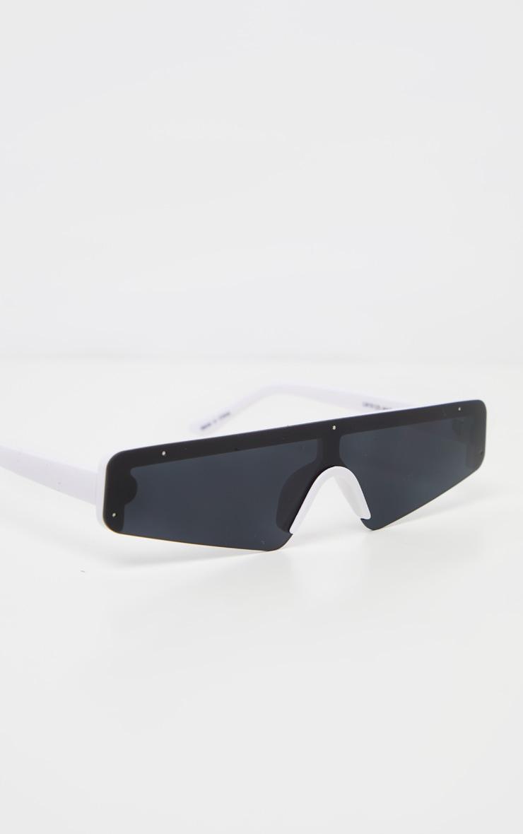 Black Retro Slim Sunglasses 3