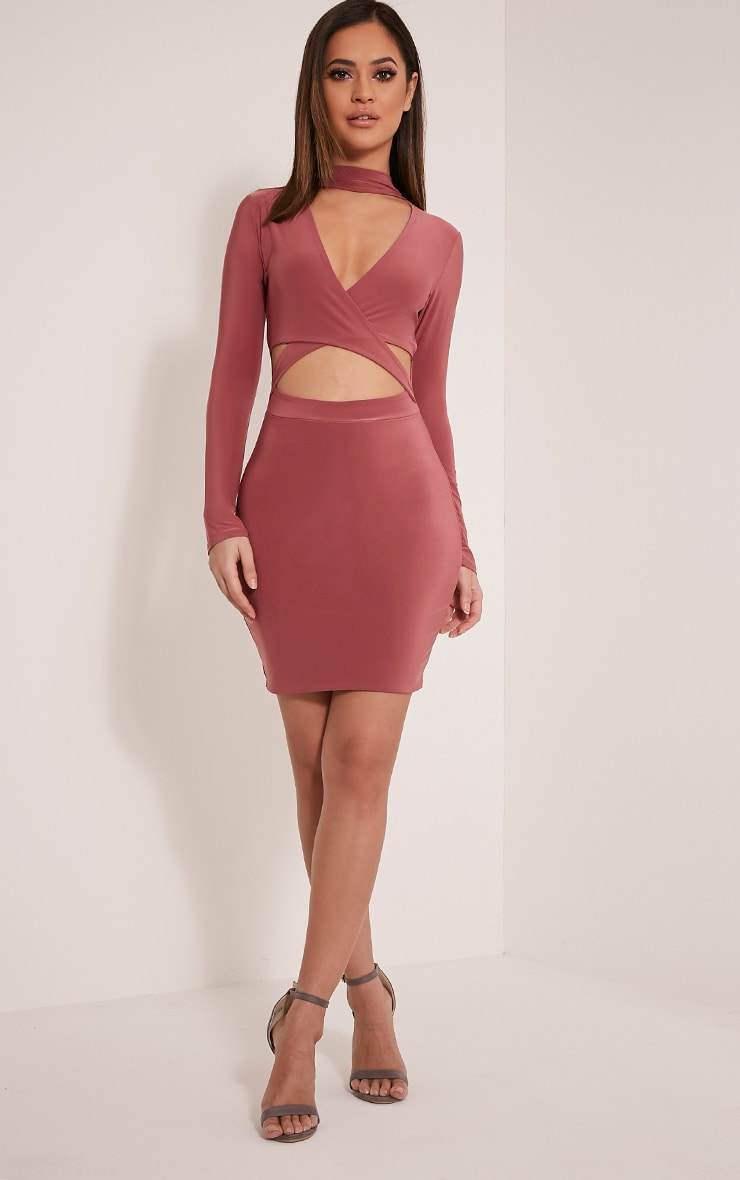 Nadeena Rose Neck Detail Cut Out Bodycon Dress 5