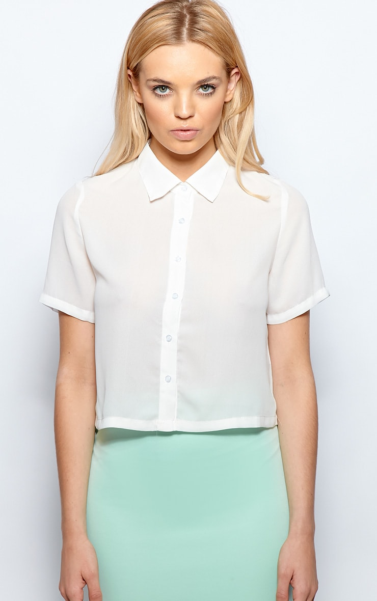 Maryam Cream Crop Shirt  1