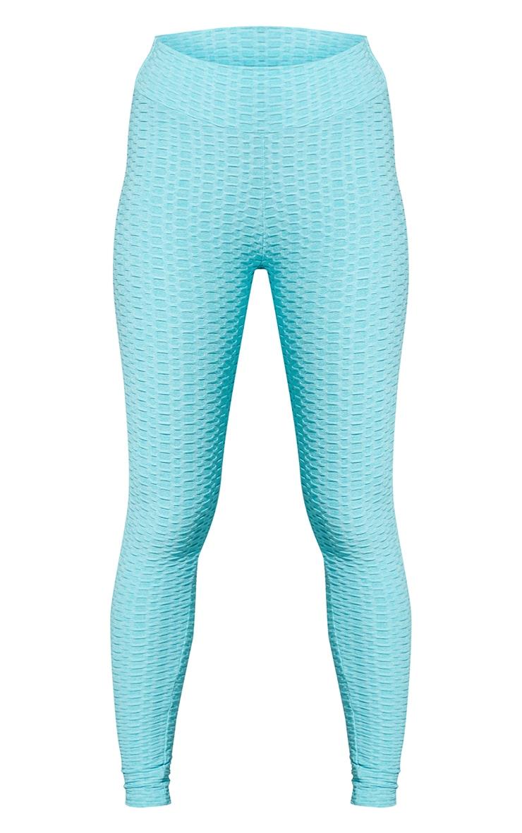 Blue Bubble Scrunch Butt Gym Leggings 5