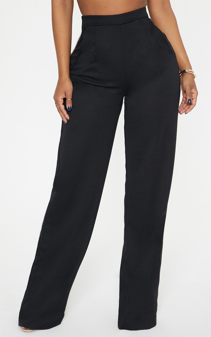 Shape Black Wide Leg Trousers 2