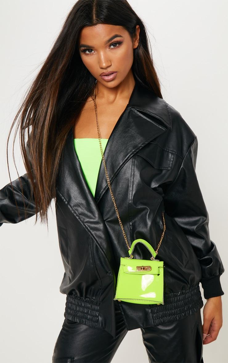 Neon Lime Micro Mini Bag 4
