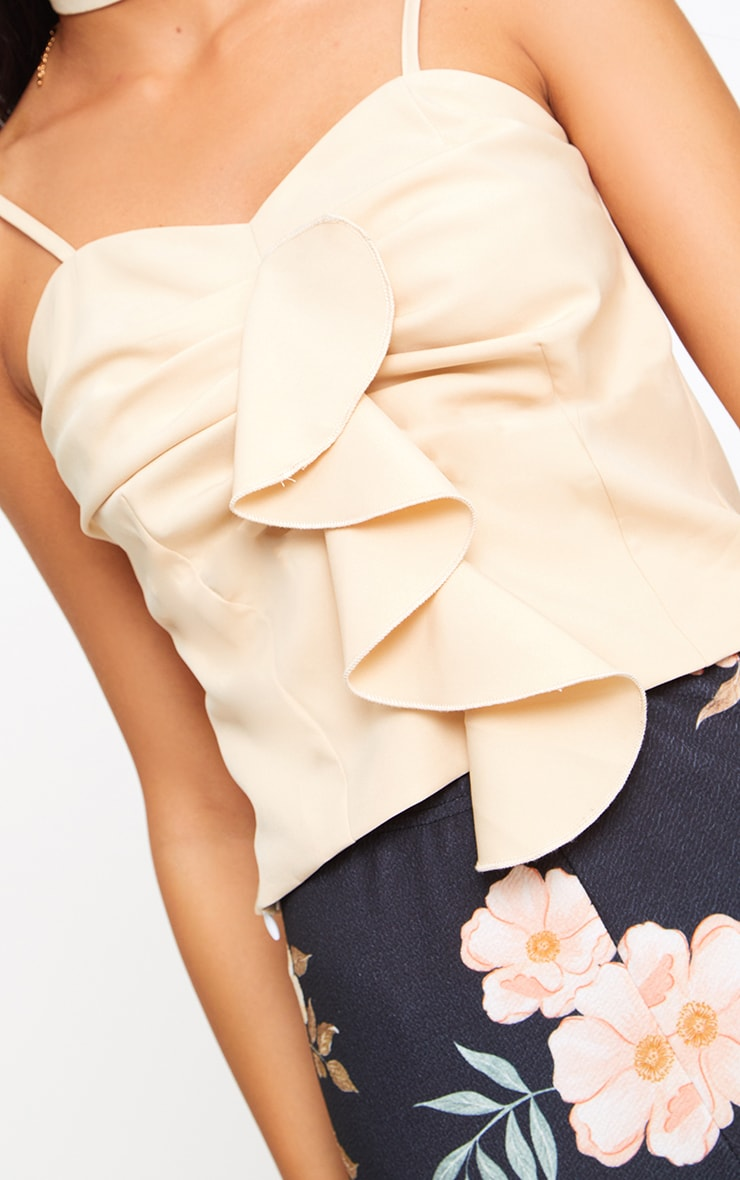 Nude Frill Detail Woven Cami Top  4