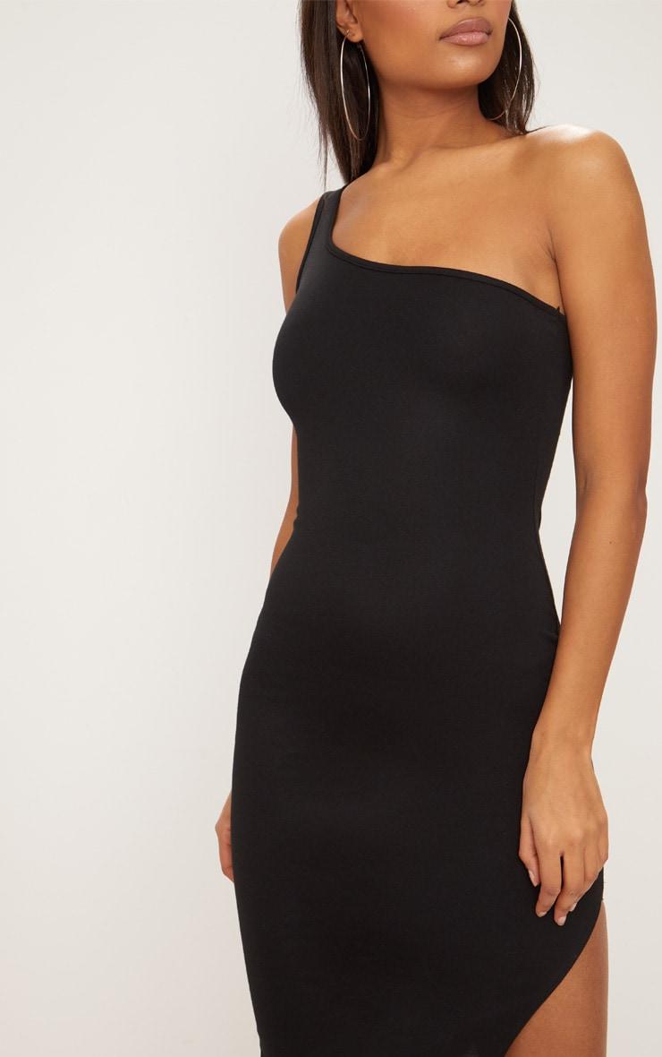 Black One Shoulder Midi Dress 5