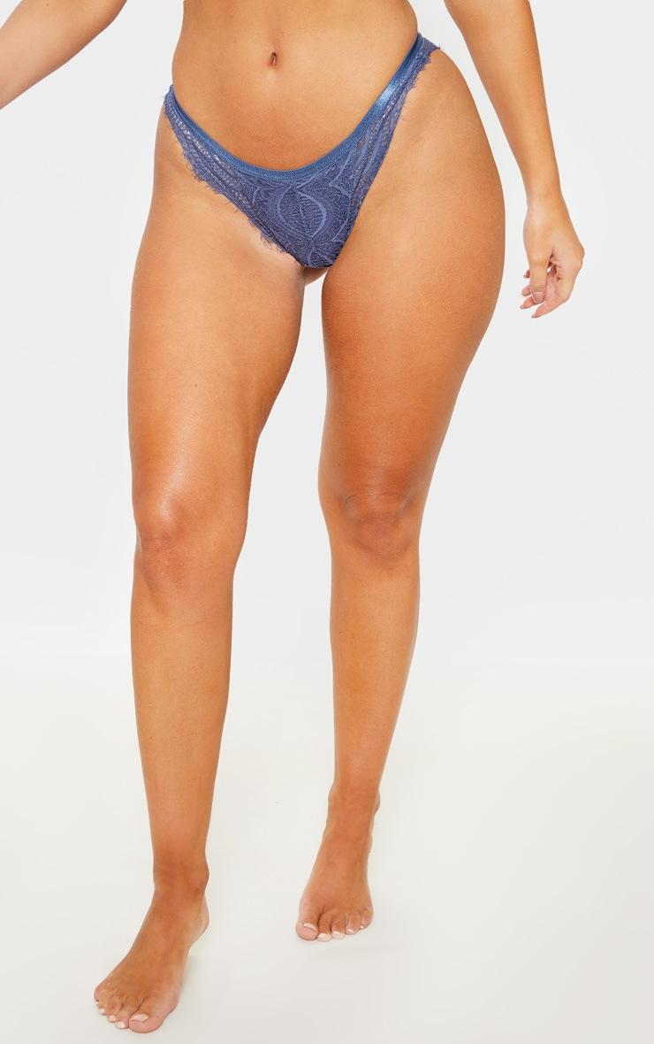Blue Lace Panties 2