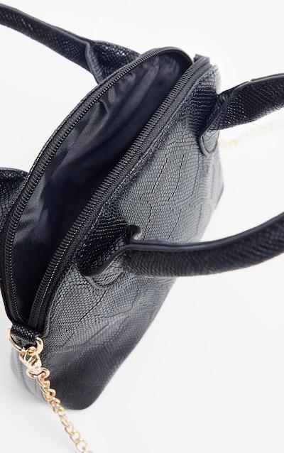 Black Snake Rounded Edge Hand Bag