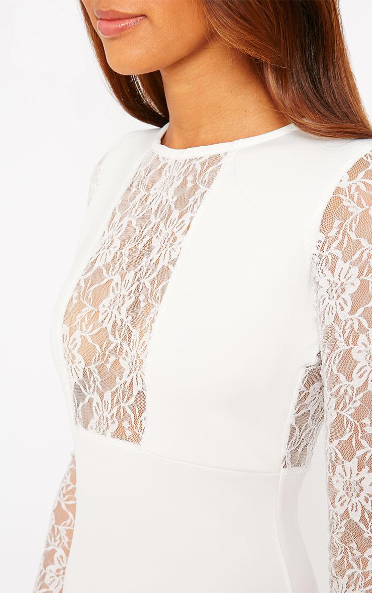 Perla Cream Lace Insert Dress 5