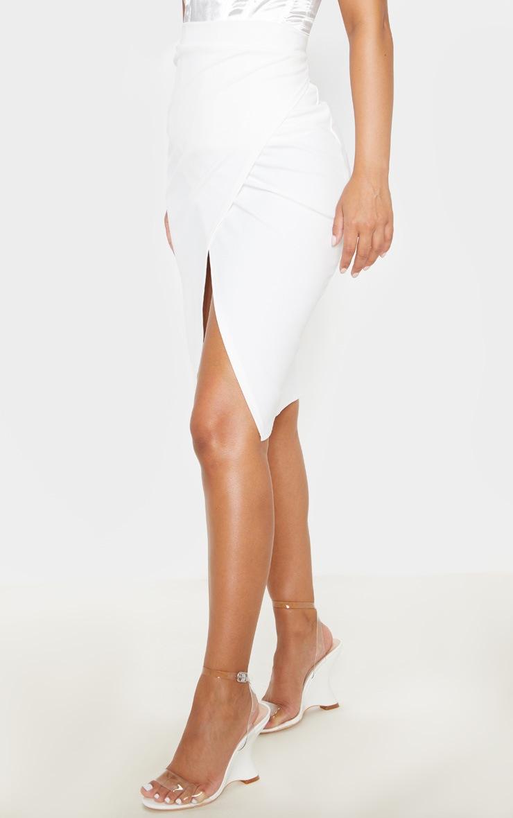 Petite Cream Wrap Pencil Skirt 2