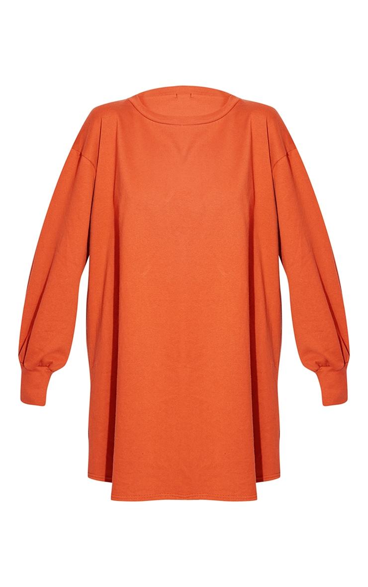 Burnt Orange Oversized Sweater Dress 5