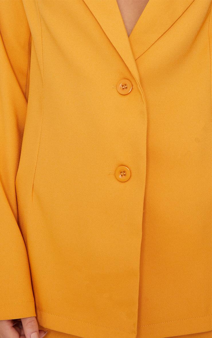Blazer boyfriend jaune moutarde 6