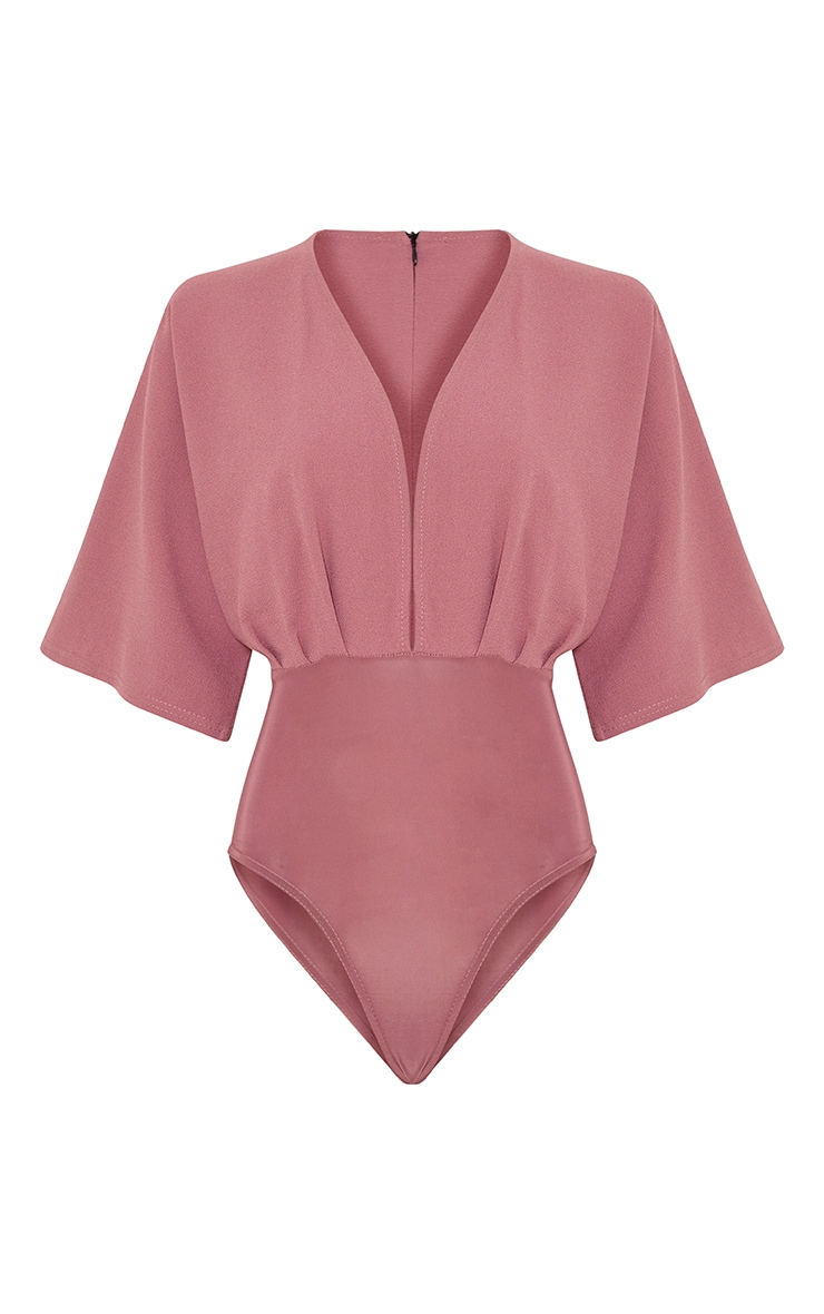 Tiegan Rose Wide Sleeve Plunge Bodysuit 3