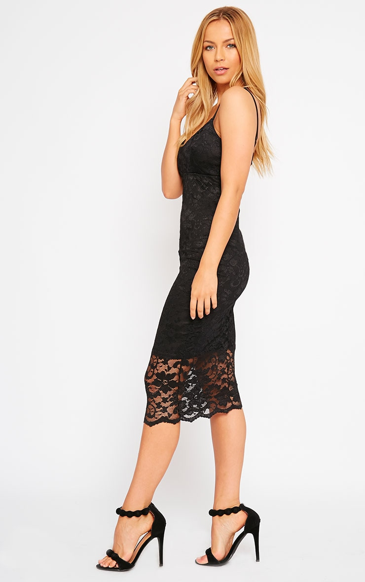 Adley Black Lace Midi Dress 1