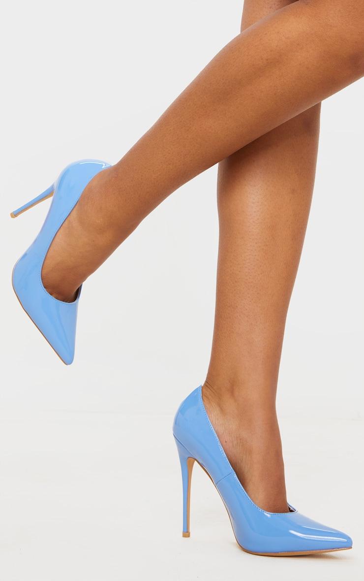 Baby Blue Court Shoe 1