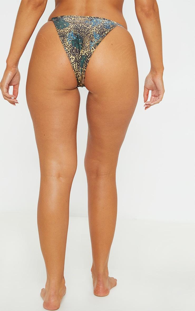 Yellow Mixed Leopard Itsy Bitsy Bikini Bottom 5