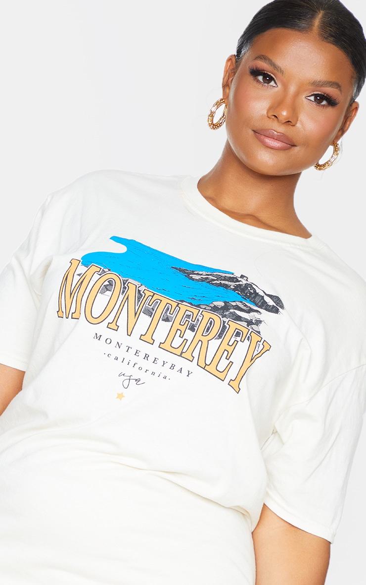 Plus Cream Monteray Print T Shirt 4