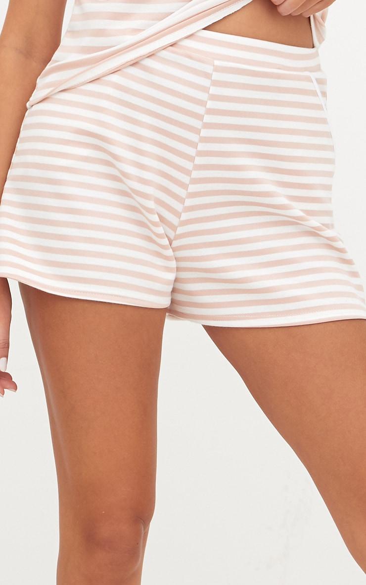 Nude Scuba Stripe Shorts 6