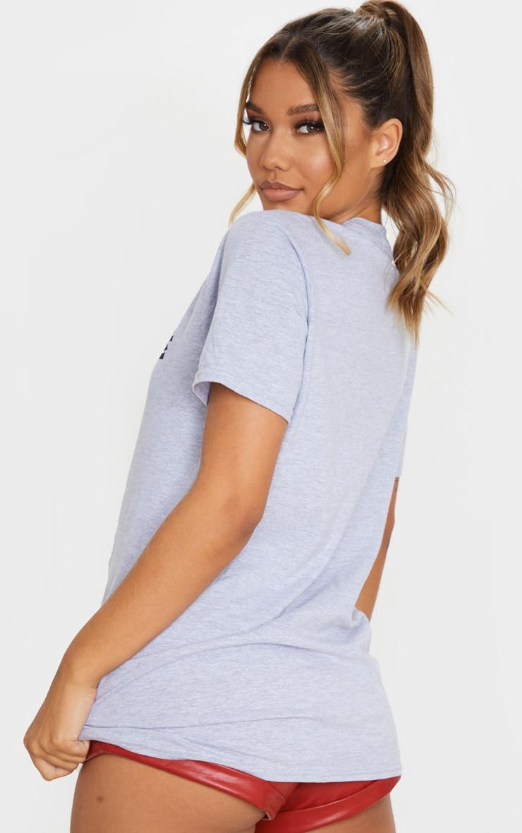 Grey Marl Japan Slogan T Shirt 2