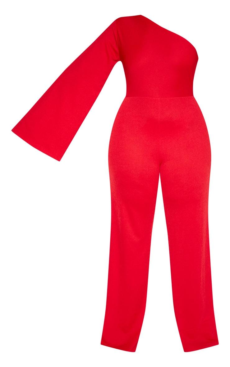 Plus Red One Shoulder Jumpsuit 3