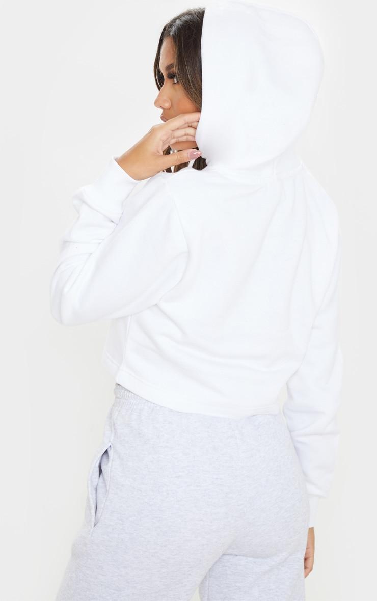 Hoodie en polaire blanche 2