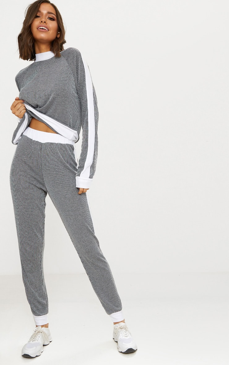 grey Soft Rib Joggers