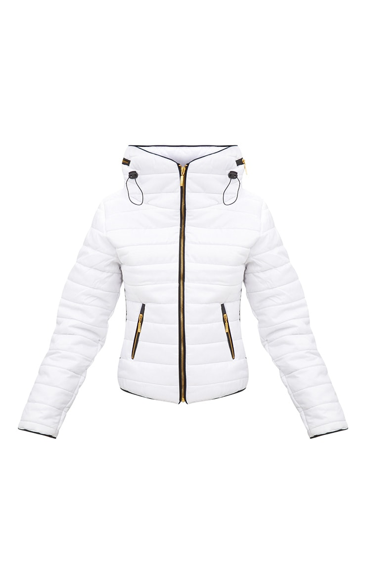 Mara White Puffer Jacket 3