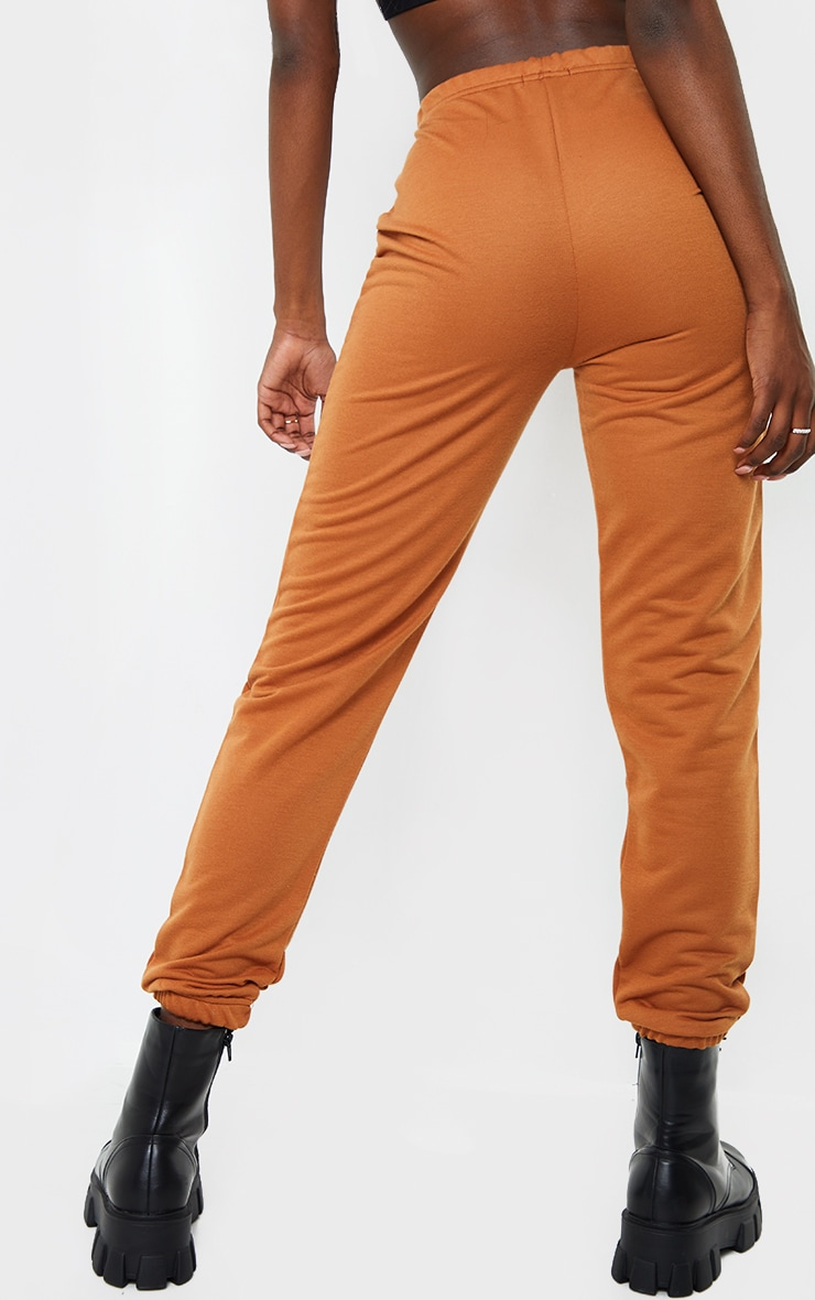 PRETTYLITTLETHING Tall Rust Basic Joggers 3