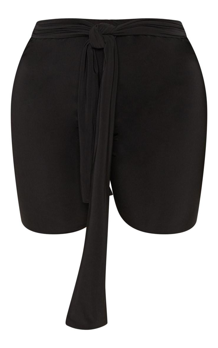 Shape - Short-legging noir avec ceinture à nouer 3