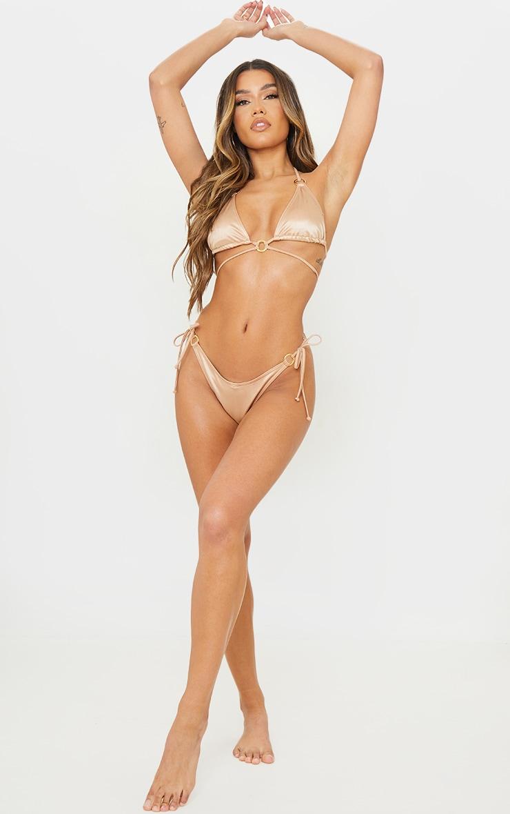 Rose Gold Metallic Wrap Around Bikini Top 3
