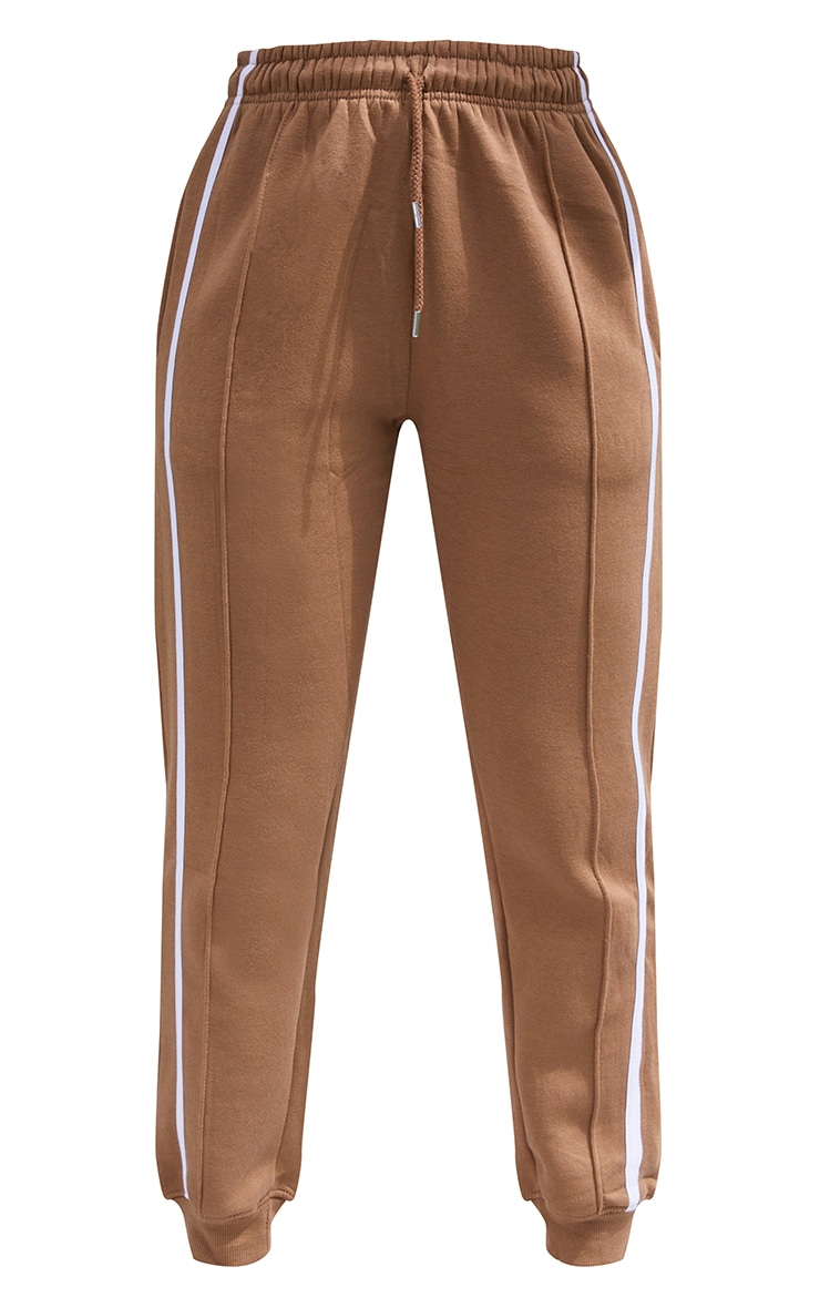 Taupe Double Side Stripe Joggers 5